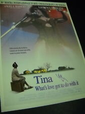 Tina Turner portrayed by Angela Bassett 1993 Promo Poster Ad mint condition
