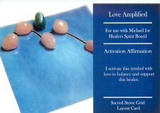 "LOVE AMPLIFIED Grid Card 4x6"" Heavy Cardstock For Use with Healing Crystals"