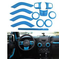 Light Blue Interior Accessories Trims For Jeep Wrangler JK JKU 2011-2016 4-door