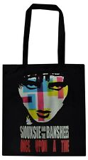 BLACK COTTON TOTE BAG SIOUXSIE & THE BANSHEES ONCE UPON A TIME POST PUNK GOTH