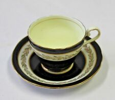 Aynsley  Cup & Saucer England Bone Black & Gold