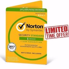 Norton Internet Security Standard Latest 2017 2018 /1 PC / 1 Year Lic/ Antivirus