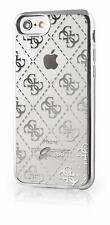 GUESS Soft Case für Apple iPhone 6 6S 7 8  Schutzhülle Cover Transparent Silber