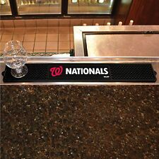 "Washington Nationals 3.25"" x 24"" Bar Drink Mat - Man Cave, Bar, Game Room"