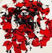 Confettis Biodégradables Naturelle Pétales de Rose Rouge Noir & Blanc