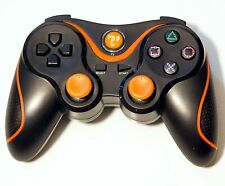 Wireless Remote PS3 Controller Gamepad for use with PlayStation3 Black/Orange