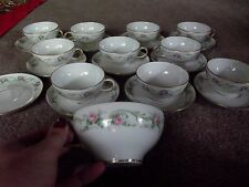 (11) Tea CUPS & SAUCER SETS, Limoges France Wm Guerin & Co W G Gue139 pink