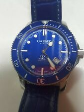 Christopher Ward C60 Trident 300 Blue Dial and Leather Band Men's Diver 43 RARE