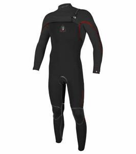 O'NEILL Men's 4.5/3 JACK O LEGEND CZ Wetsuit - BLK/BLK/RED - Medium Short - NWT