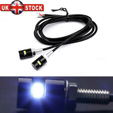 2 X UNIVERSAL LED NUMBER PLATE TAIL TIDY LIGHTs CAR MOTORCYCLE BOLT LIGHT LAMP