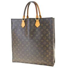 Authentic LOUIS VUITTON Sac Plat Hand Bag Monogram Leather Brown M51140 69BK256