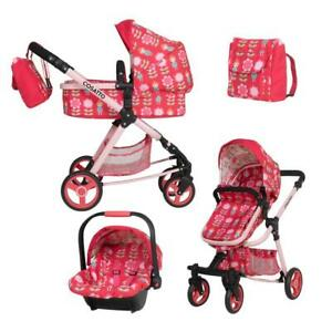 Brand new Cosatto Giggle Quad Dolls pram in Fairy Garden with Car seat and bag