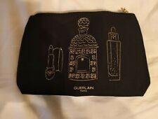 NEW IN PACKAGE GUERLAIN PARIS BLACK COSMETICS MAKEUP ZIPPERED CASE BAG