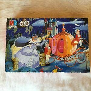MB PUZZLE 34773 STORYBOOK Cinderella Jigsaw 60 Piece 1996 VINTAGE 90s Fairytale