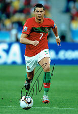 Cristiano RONALDO Signed Autograph PORTUGAL Legend RARE 16x11 Photo AFTAL COA