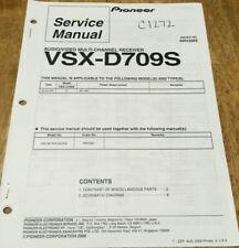 PIONEER VSX-D709S AUDIO/VIDEO RECEIVER ORIGINAL SERVICE REPAIR MANUAL