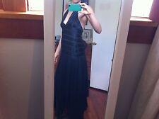 BCBG black silk halter top prom dress/evening gown size 4 worn once!