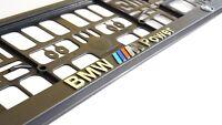 BMW M-POWER 2x  Kennzeichenhalter 3D I  I Neu hit Kennzeichenhalterung  I
