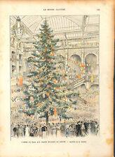 Arbre de Noël Grands Magasins du Louvre Paris dessin Fraipont ILLUSTRATION 1893