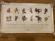 Legend of Zelda Link's History Club Nintendo Poster Ultra Rare 1987 Limited NES