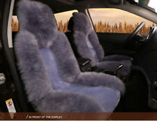 Wool Front Seat Comfortable Cushion Pad Warm Protector For Car Seat Grey