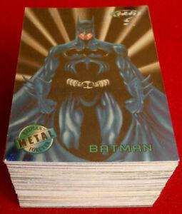 BATMAN FOREVER METAL - COMPLETE BASE SET (100 Cards) - FLEER - 1995