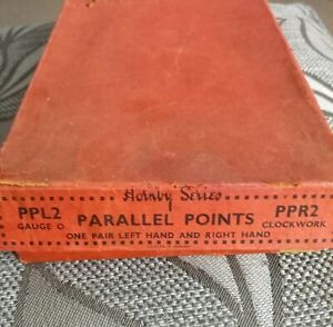 Vintage 1925/1939 2 X Hornby Parallel Points O Gauge in Box