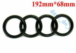 1X For Audi Rear Boot Trunk Badge Rings Logo Emblem Black A3 A4 A5 A6 193mmx67mm