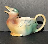 VTG🦆Antique 30s Czechoslovakia made Mallard Duck milk Creamer mug for coffee🦆