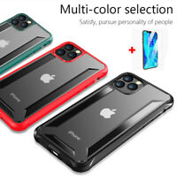 For iPhone 11 Pro Max Xs Xr Shockproof Heavy Duty Hybrid Clear Back Case Cover