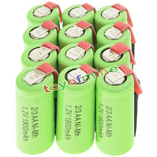 12 pcs 2/3AA 1.2V 1800mAh Ni-MH rechargeable battery