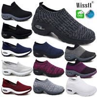 Womens Breathable Lace Up Air Cushion Sneakers Ladies Soft Comfy Trainers Shoes