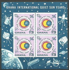 Ghana - Internat. Jahre der ruhigen Sonne Block 9 postfrisch 1964  Mi.Nr. 172