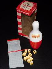 Vintage 1950s Spare Tire Bowling Game - Like Yahtzee - COMPLETE IOB