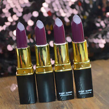 Waterproof Gothic Vampire Grape Purple Lipstick Dark Purple Lip Gloss Makeup HOT