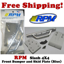 RPM 80023 Traxxas Slash 4x4 Front Bumper (Chrome) & Skid Plate (Grey)