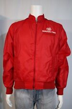 Holloway Vintage Men's MEDIUM General Tires Red Zip Up Bomber Jacket