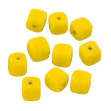 Shiny giallo opaco 8mm fatti a mano perline di vetro cubo Confezione da 10 (Q102/1)
