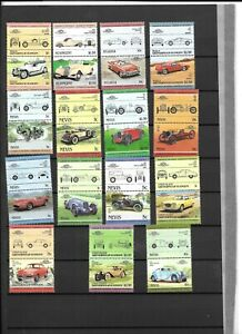 Commonwealth Collection MNH Nevis,StVincent Cars