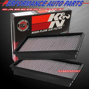 Two K&N 33-2127 Hi-Flow Air Intake Filters for 1995-2002 E350 Econoline 7.3L V8
