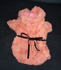 PINK Mink Pet Dog Coat Luxury Designer Fashion Jacket - Small
