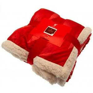 Liverpool FC Sherpa Fleece Blanket (football club souvenirs memorabilia)