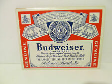 2 VINTAGE BUDWEISER BEER LABEL STICKERS ( 10 CITIES )