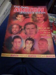 The Flash Match Sticker Album Complete With Rare David Beckham