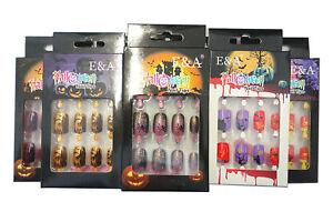 8 Packungen Karneval Tips Grusel Horror Airbrush Nails  HTT-13 ANGEBOT