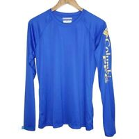 Columbia PFG Super Tidal II Long Sleeve Tee Sz L Dri Fit UV Protection Blue