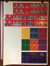 "JAMES BOND GOLDENEYE TRADING CARDS: FULL UNCUT SHEET OF CHASE CARDS (28""X40"")"