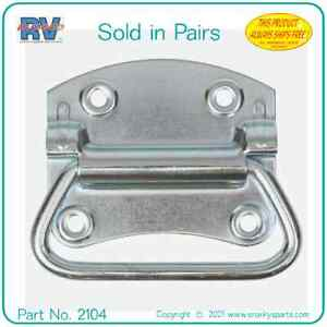 Chest Handles for Tool Box, Chest or trunk. Heavy Duty Steel. (Sold in Pairs)