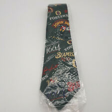 More details for beer logo tie mens green beamish fosters john smiths new & unused