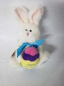 Boyds Bears Happy Easter White Rabbit w/ Easter Egg 9''